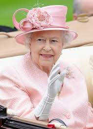 Image result for queen elizabeth pink suit