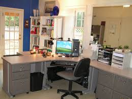 white painted wooden desk for two combined green swivel chairs and light garage design ideas amazing home office office