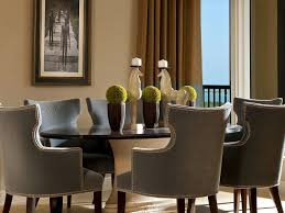 Taupe Dining Room Chairs Taupe Silk Curtains Contemporary Dining Room Atmosphere Interior