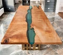<b>Стол</b> Река купить или заказать в мастерской Хард Массив, Москва