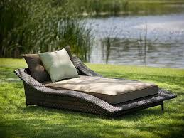 affordable garden with contemporary outdoor furniture of black rattan bed with soft mattrass cheap modern outdoor furniture