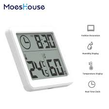 <b>Multifunction</b> Automatic Electronic <b>Temperature</b> and <b>Humidity</b> Clock ...