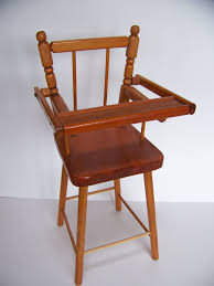 vintage wooden doll high chair antique high chairs wooden