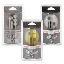 Maxell <b>In Ear Earbuds</b> with Microphone and Remote <b>Stereo</b> Mini ...