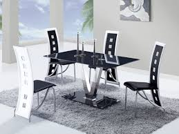 Black And White Kitchen Table Black And White Dining Table And Chairs