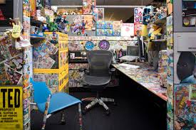 we wonder how long it took to deck this awesome cubicle out with all those stickers awesome cubicle decorations