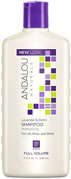 Andalou Naturals <b>Full Volume Shampoo</b>, Lavender and Biotin, 11.5 ...