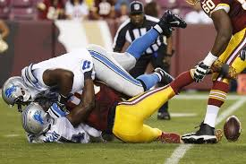 Image result for images of rg3 in the detroit preseason game
