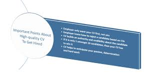 importance of a good cv when seeking employment get hired cv folks five points about the importance of a high quality cv to get hired for your dream job