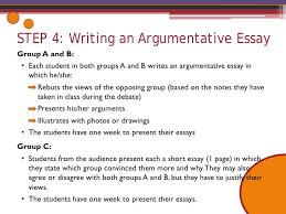 our class in the future debate activity  step  writing an argumentative essay
