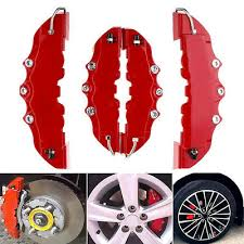 3D Red 2 Pairs <b>Style Car Universal</b> Disc Brake Caliper Covers Front ...