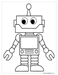 Small Picture Cute Robot Coloring Pages Coloring Coloring Pages