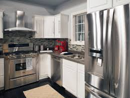 Colored Kitchen Appliances Stainless Steel Appliances Dark Gray Countertops And A Gray