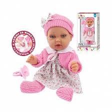 Интерактивный <b>пупс</b> Premium <b>Baby Doll</b> в платье и вязаном ...