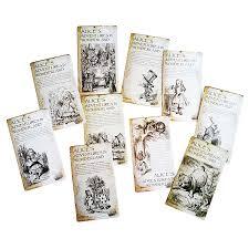 20 Pcs/lot New <b>Vintage Style Alice's</b> Adventure In Wonderland Post ...