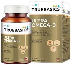 TrueBasics <b>Ultra</b> Omega <b>Fish Oil</b> Triple Strength Enriched With 1250 ...