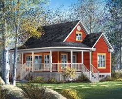 Plan PM  Cute Country Cottage   Country Cottages  Cottages    This cute and compact country cottage house plan has a charming wraparound front porch which expands