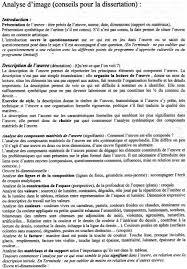 M  thode   Analyse d     oeuvre   Dissertation Arts Plastiques