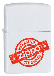 <b>Зажигалка ZIPPO Zippo Guaranteed</b> White Matte 29547 купить ...