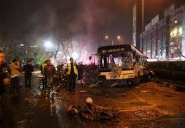 نتیجه تصویری برای 37 کشته و 125 زخمی بر اثر انفجار تروریستی در پایتخت ترکیه