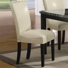 leather dining chair beige leather dining chair carter cream wood dining chair