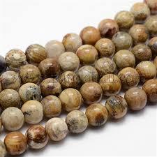 Wholesale <b>Natural Chrysanthemum Stone Beads</b> Strands, Grade B ...