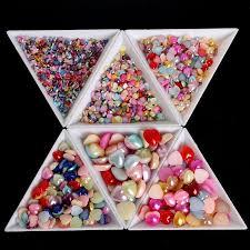 <b>10Pcs</b>/<b>set Plastic</b> Triangle Rhinestones Beads Crystal <b>Nail</b> Art White ...
