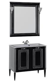Мебель для ванной <b>Aquanet Паола</b> 90 черная, серебро - купить в ...