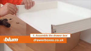 soft close drawers box: blum metabox shallow replacement kitchen drawer box  of  assemble the drawer box youtube