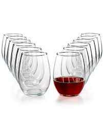 Martha Stewart Collection 12-<b>Pc</b>. Stemless <b>Wine Glasses</b> Set ...