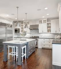 Gray And White Kitchen Designs White Marble Kitchen With Grey Island House Home Pinterest