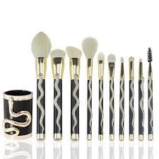7/<b>10Pcs</b> Snake Pattern <b>Makeup Brush</b> Set maquiagem <b>Big</b> ...