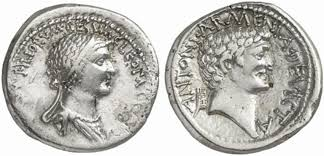 the fake news that sealed the fate of antony and cleopatra silver denarius coin cleopatra on the obverse antony on the reverse