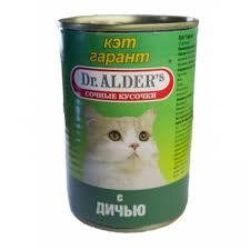 <b>Консервы Dr. Alder's Cat Garant</b> для взрослых кошек с дичью 415 г