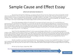 essay by anita j ghajar selim table of contents essay  sample cause and effect essay effects of watching too much tv discoveries and invention of devices