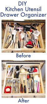 bathroom drawer organization: make your own diy custom wood kitchen utensil drawer organizer super easy and so cheap