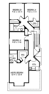 Home Plans For Narrow Lots   House Plans      or less   Pinterest    Home Plans For Narrow Lots