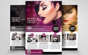 beauty salon flyer template psd ai and vector eps format salon advertisement flyer template