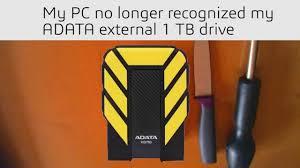 Taking apart a <b>military grade</b> ADATA external drive to recover data ...