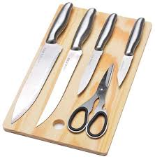 Набор <b>MAYER &</b> BOCH 4 <b>ножа</b>, ножницы и <b>разделочная</b> доска ...