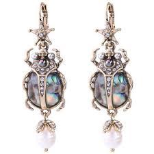 BJ <b>New Fashion</b> Jewelry Alloy <b>Rhinestone Drop</b>/Dangle star insect ...