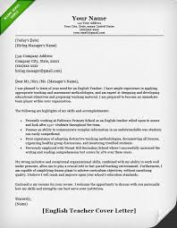 ESL Teacher Cover Letter Sample