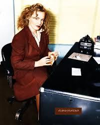 badly) colorized arrest photo of Frances Farmer, January 1943 ... via Relatably.com