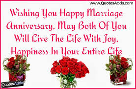 Wishing you Happy Marriage Anniversary Quotes and Greetings in ... via Relatably.com