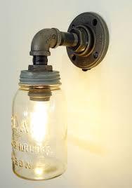 mason jar light with plumbing pipe fixture austin mason jar pendant lamp