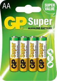 ROZETKA   <b>Батарейка GP Super Alkaline</b> 1.5 V LR6 AA 4 шт. (15A ...