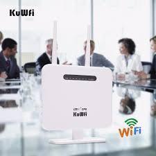 <b>KuWFi Unlocked 4G LTE</b> CPE Wifi Router 300Mbps Wireless ...