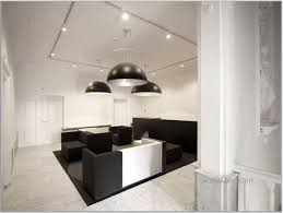 elegant modern office furniture design idea with black white sofas pendant lights and wall dental black white office contemporary home office