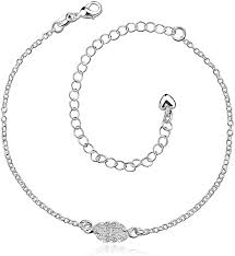 welcome to buy AueDsa Copper <b>Anklets Women</b> Cubic Zirconia ...