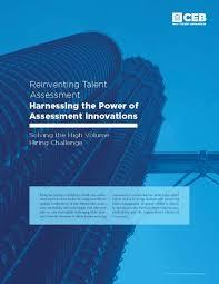 whitepaper solving the high volume hiring challenge ceb harnessing the power of assessment innovations